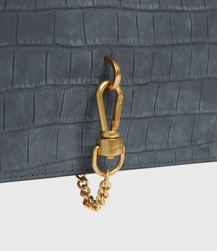 Mujer Sheringham Suede Shoulder Bag (petrol_blue) - Image 4