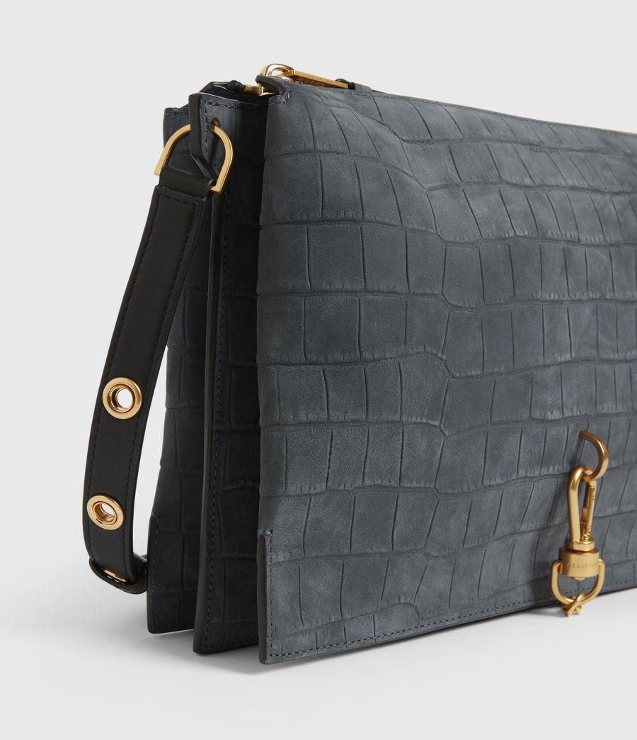 Mujer Sheringham Suede Shoulder Bag (petrol_blue) - Image 5