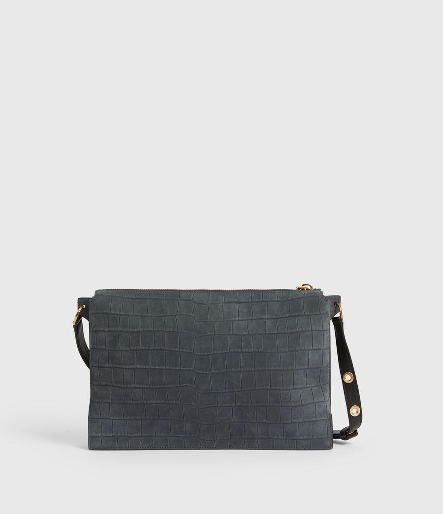 Mujer Sheringham Suede Shoulder Bag (petrol_blue) - Image 6