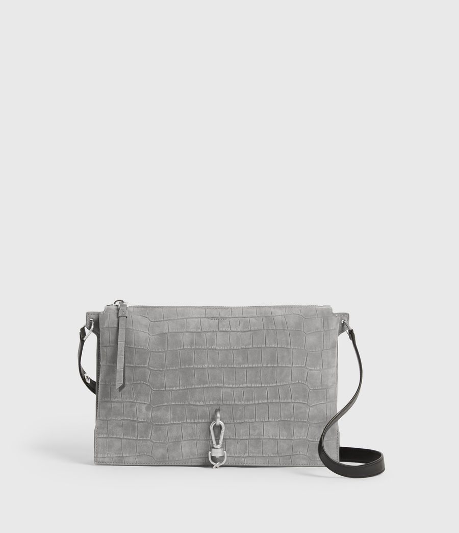 Damen Sheringham Suede Shoulder Bag (mist_grey) - Image 2