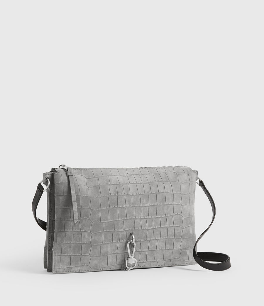 Damen Sheringham Suede Shoulder Bag (mist_grey) - Image 4