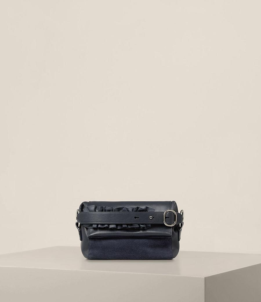 Donne Maya Soft Leather Clutch Bag (marine_blue) - Image 1
