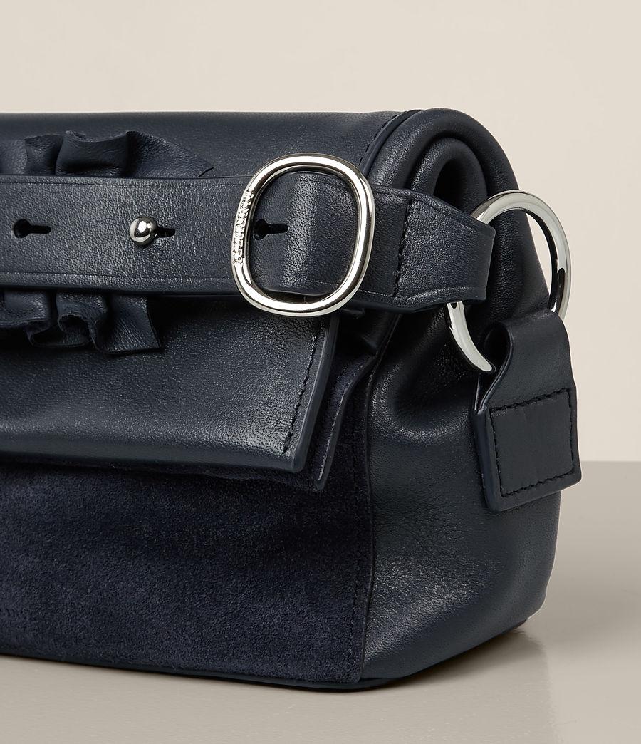 Donne Maya Soft Leather Clutch Bag (marine_blue) - Image 2