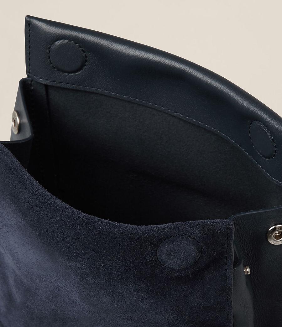 Donne Maya Soft Leather Clutch Bag (marine_blue) - Image 4