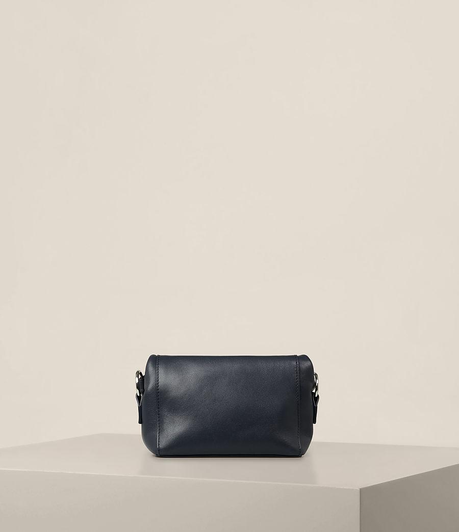 Donne Maya Soft Leather Clutch Bag (marine_blue) - Image 5