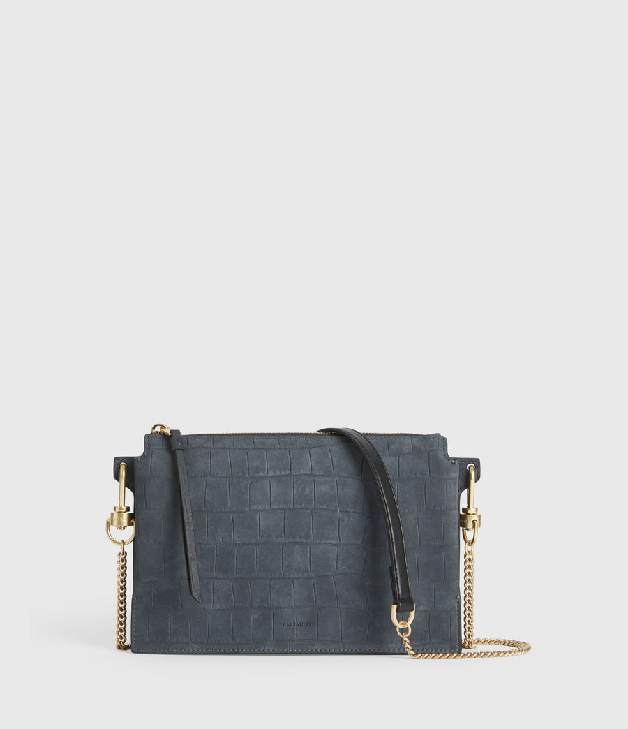Women's Fletcher Suede Crossbody Bag (petrol_blue) - Image 1