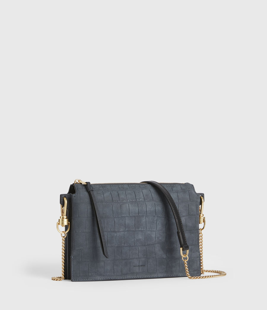Women's Fletcher Suede Crossbody Bag (petrol_blue) - Image 3