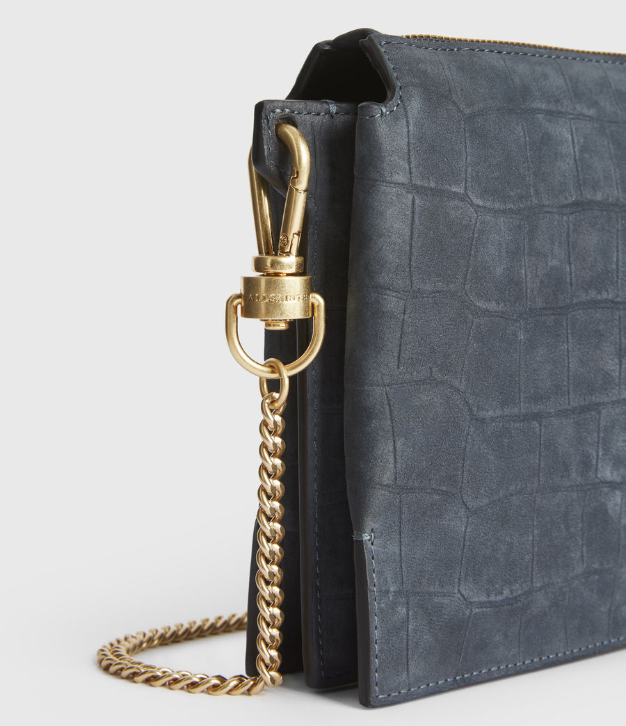 Women's Fletcher Suede Crossbody Bag (petrol_blue) - Image 5