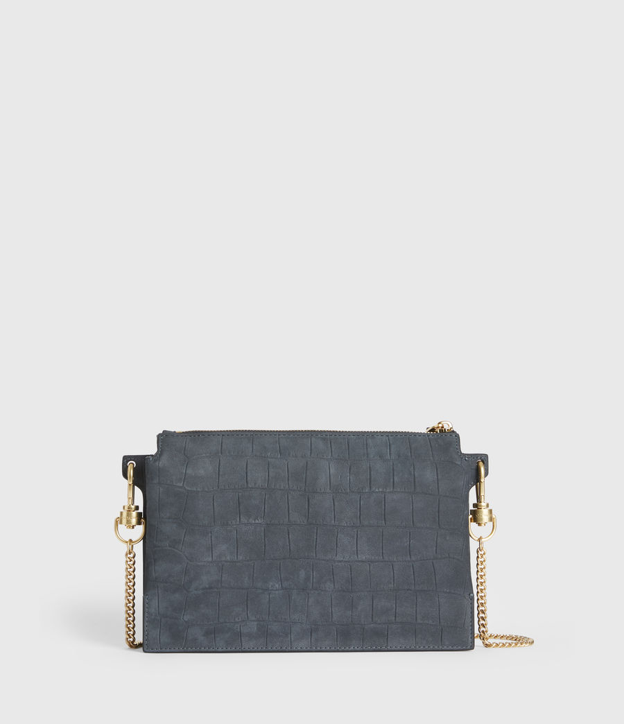 Women's Fletcher Suede Crossbody Bag (petrol_blue) - Image 6