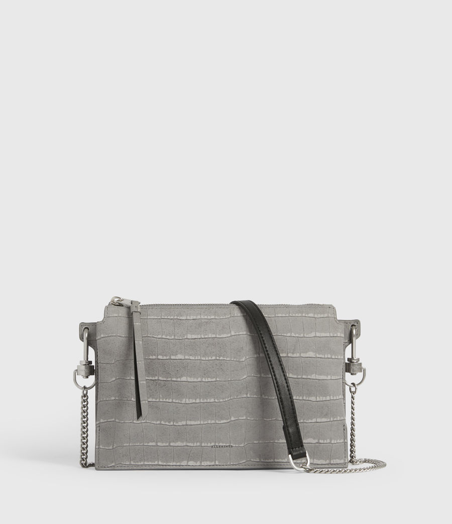 Women's Fletcher Suede Crossbody Bag (mist_grey) - Image 2