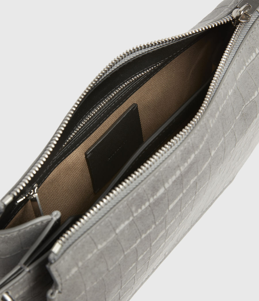 Women's Fletcher Suede Crossbody Bag (mist_grey) - Image 3