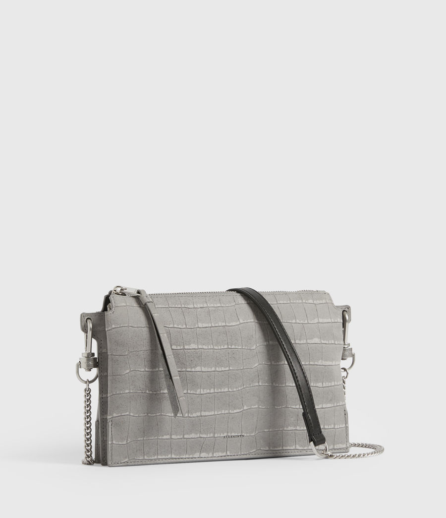 Women's Fletcher Suede Crossbody Bag (mist_grey) - Image 4