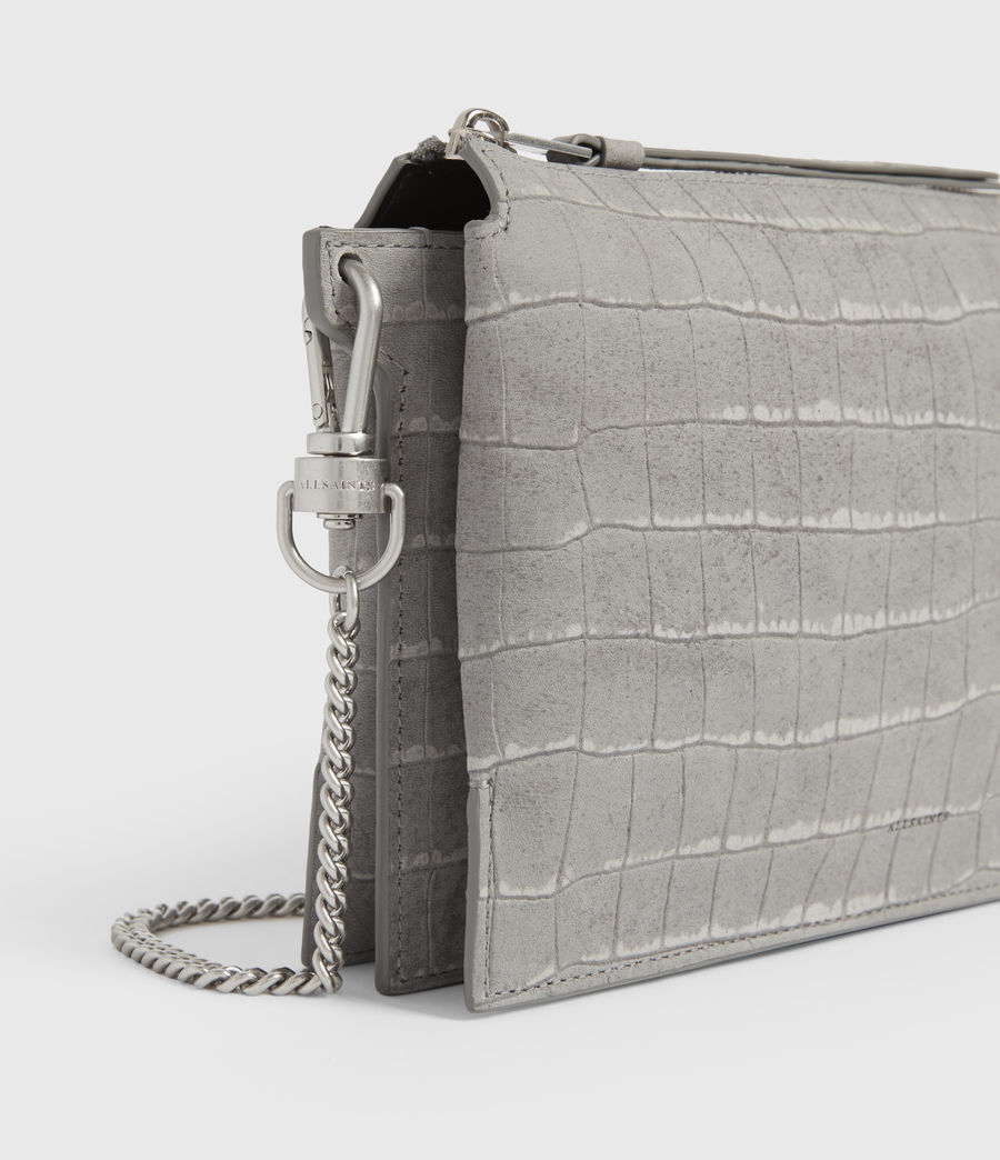 Women's Fletcher Suede Crossbody Bag (mist_grey) - Image 5