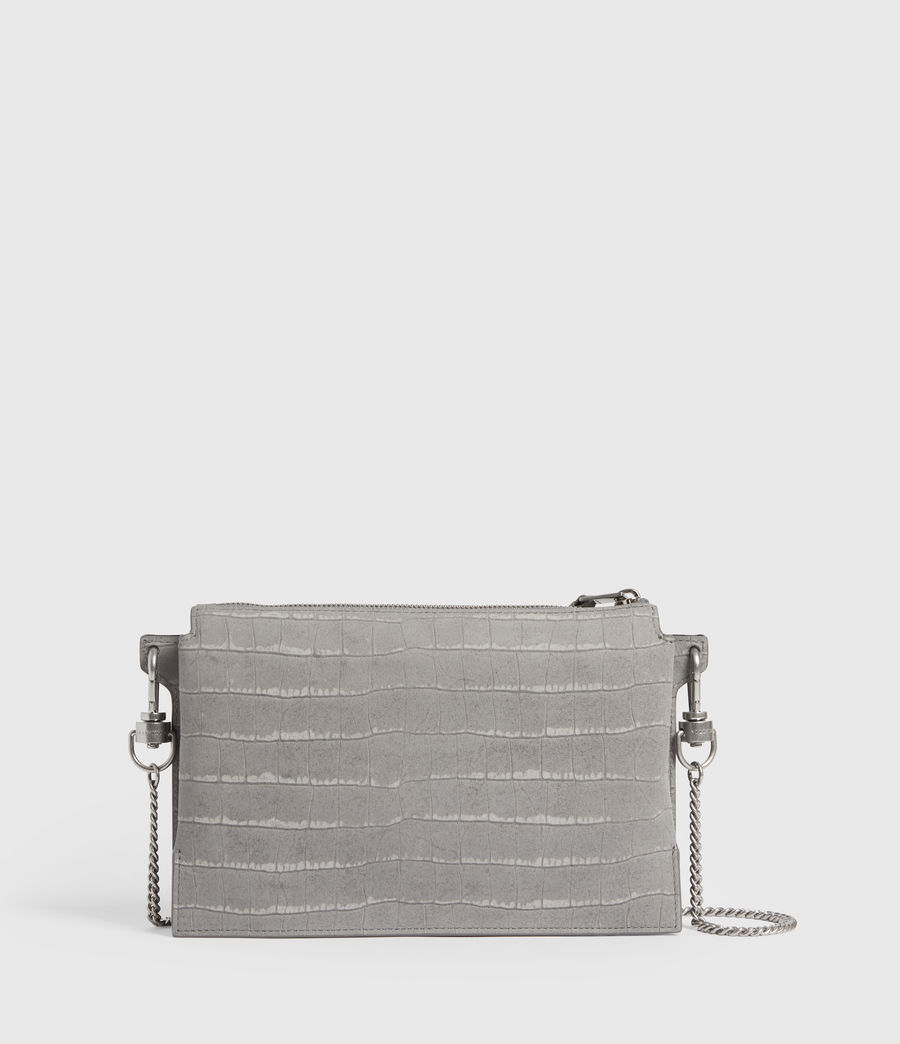 Women's Fletcher Suede Crossbody Bag (mist_grey) - Image 6