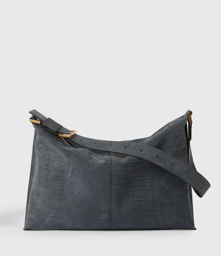 Women's Edbury Suede Shoulder Bag (petrol_blue) - Image 1