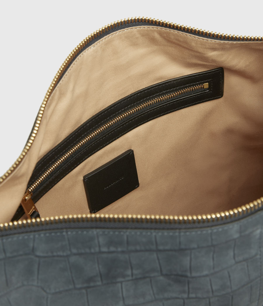 Women's Edbury Suede Shoulder Bag (petrol_blue) - Image 2