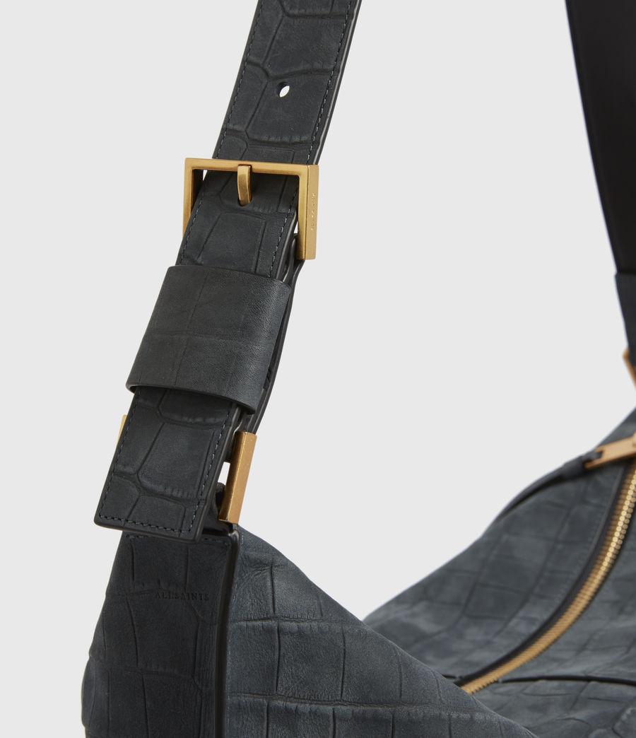 Women's Edbury Suede Shoulder Bag (petrol_blue) - Image 3