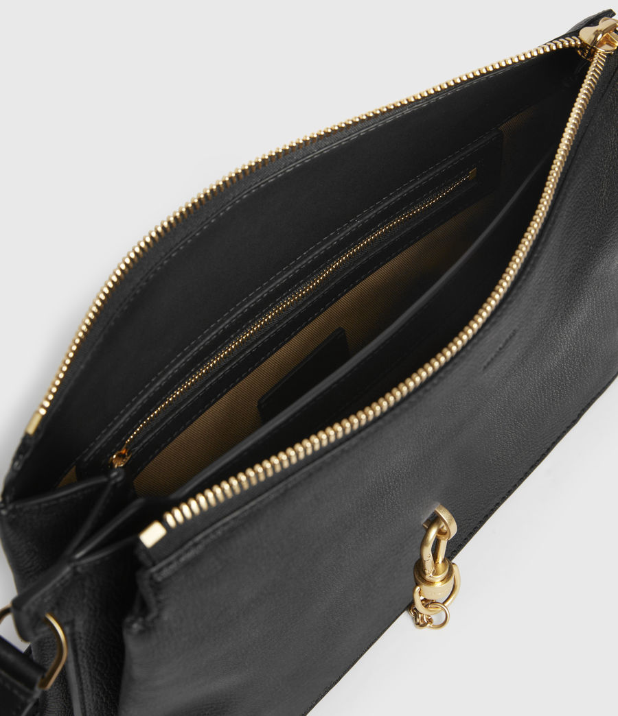 Womens Sheringham Leather Shoulder Bag (black) - Image 2