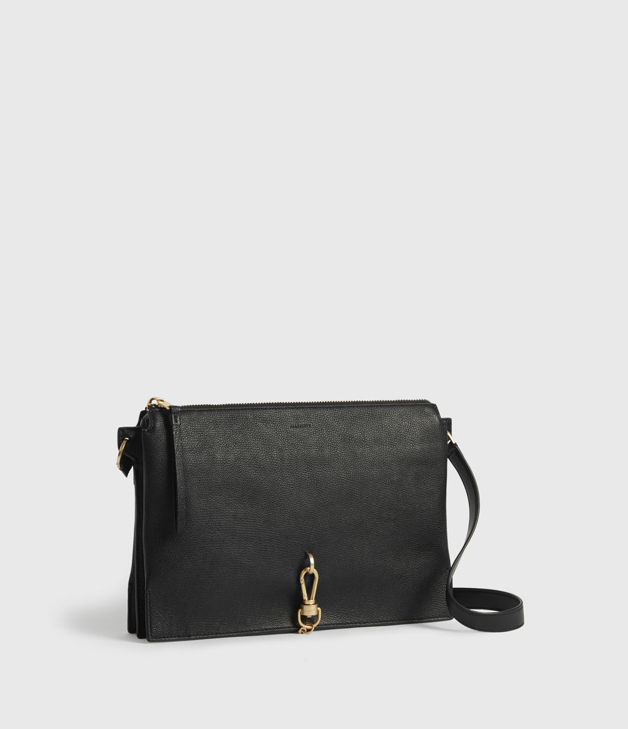 Womens Sheringham Leather Shoulder Bag (black) - Image 3
