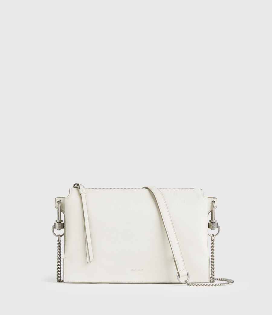 Mujer Fletcher Leather Crossbody Bag (chalk_white) - Image 1