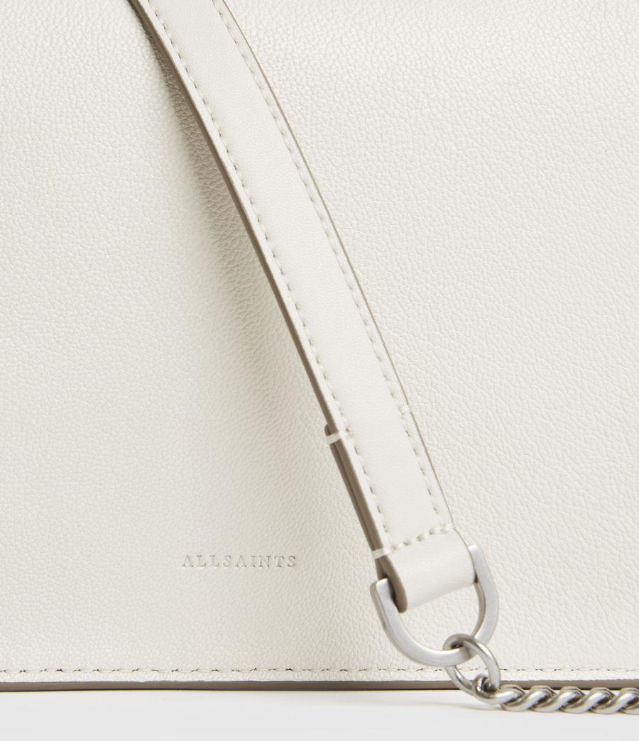 Womens Fletcher Leather Crossbody Bag (chalk_white) - Image 5