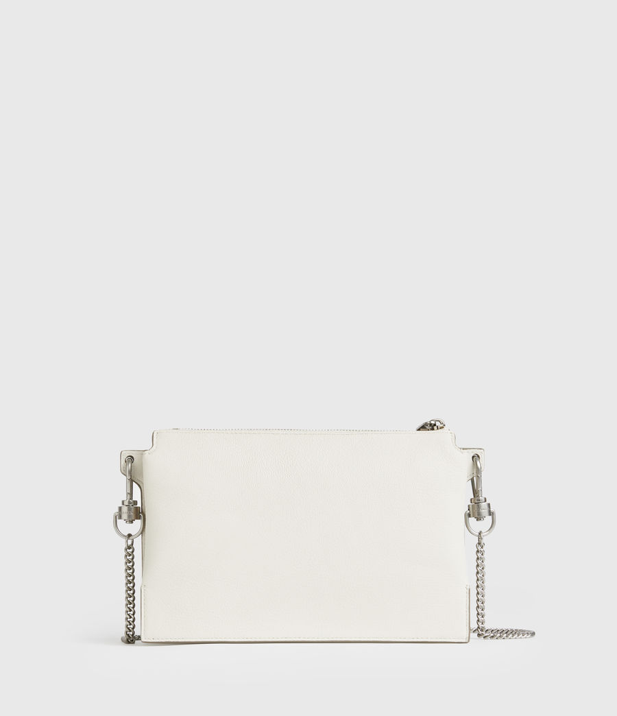 Mujer Fletcher Leather Crossbody Bag (chalk_white) - Image 4