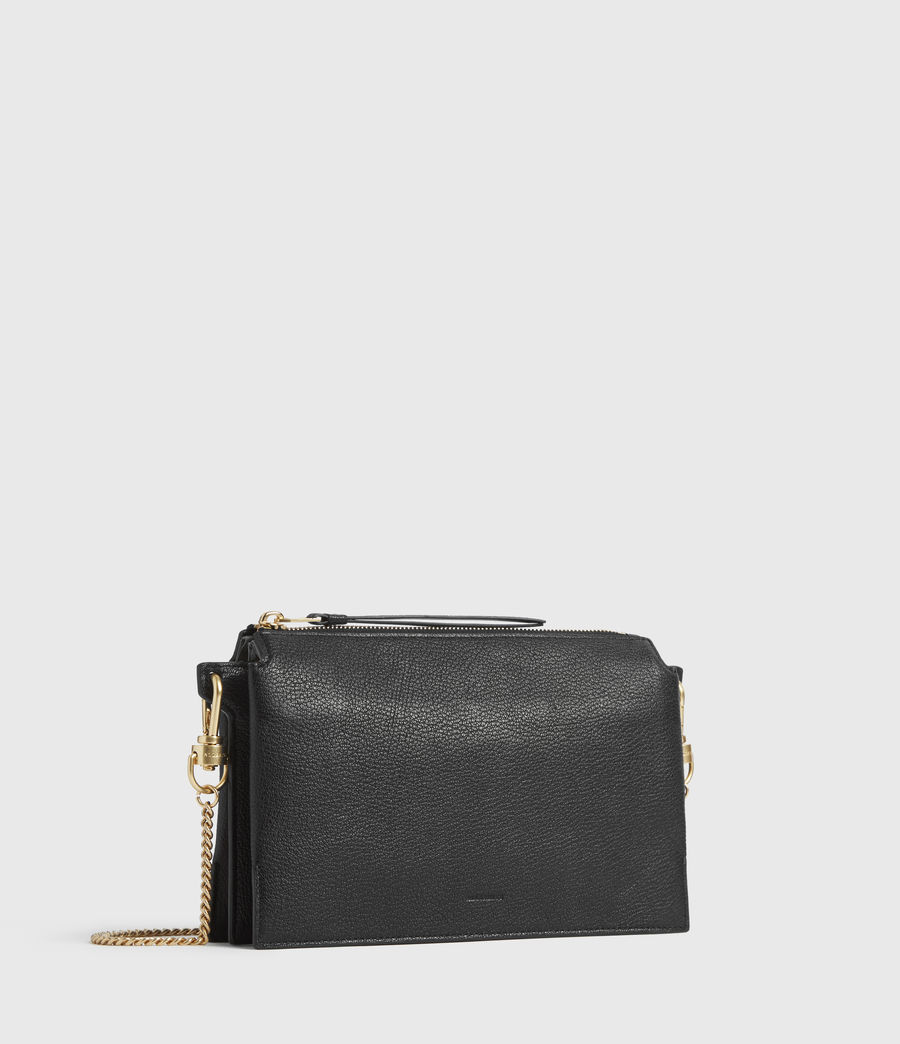 Womens Fletcher Leather Crossbody Bag (black) - Image 2