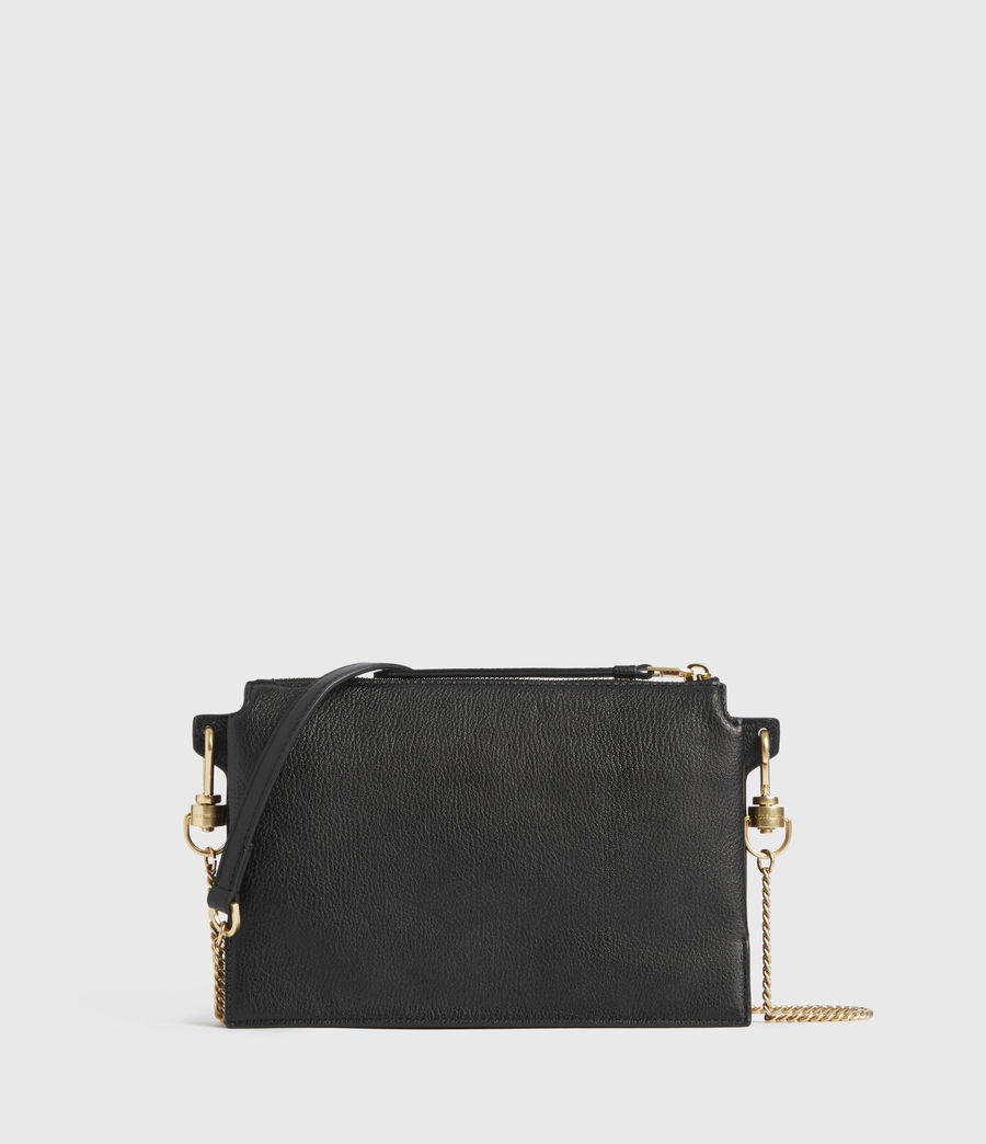 Womens Fletcher Leather Crossbody Bag (black) - Image 6