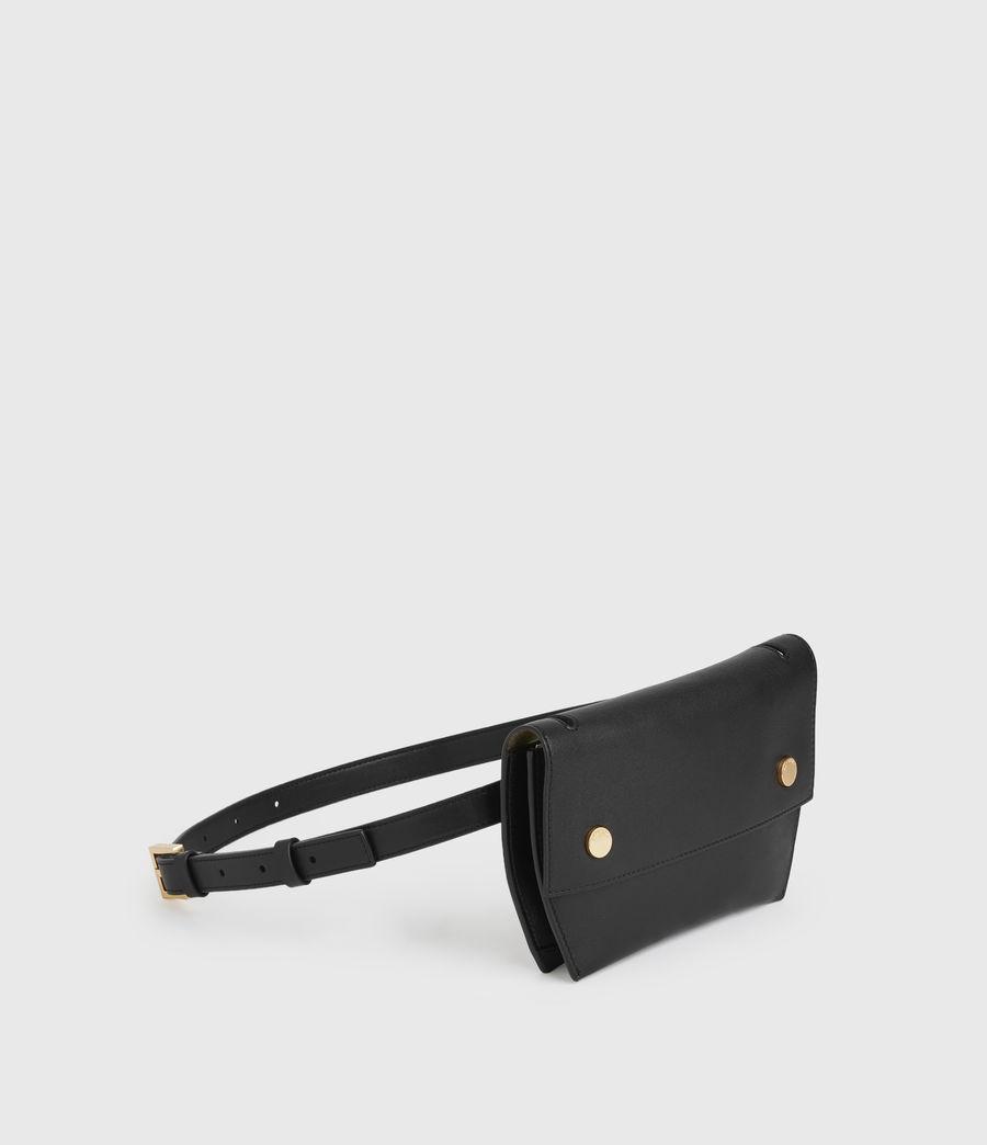 Womens Corbet Leather Crossbody Fanny Pack (black) - Image 2
