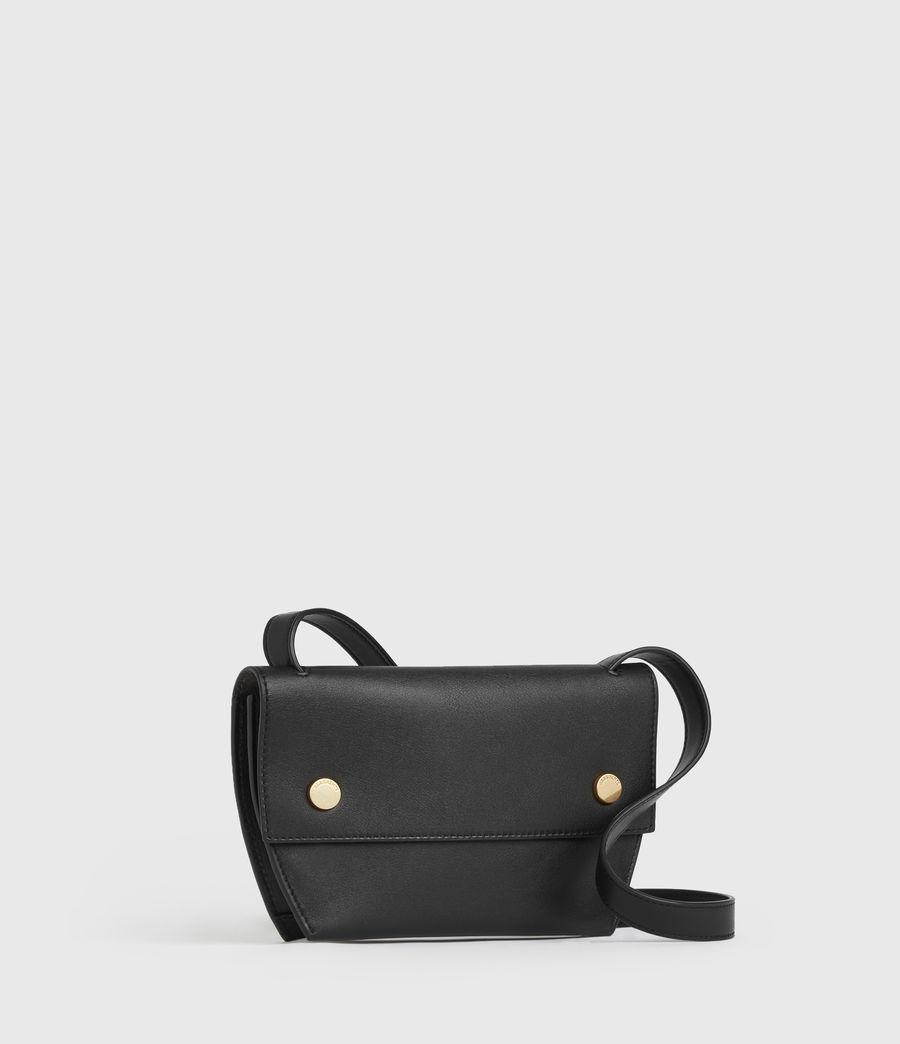 Womens Corbet Leather Crossbody Fanny Pack (black) - Image 3