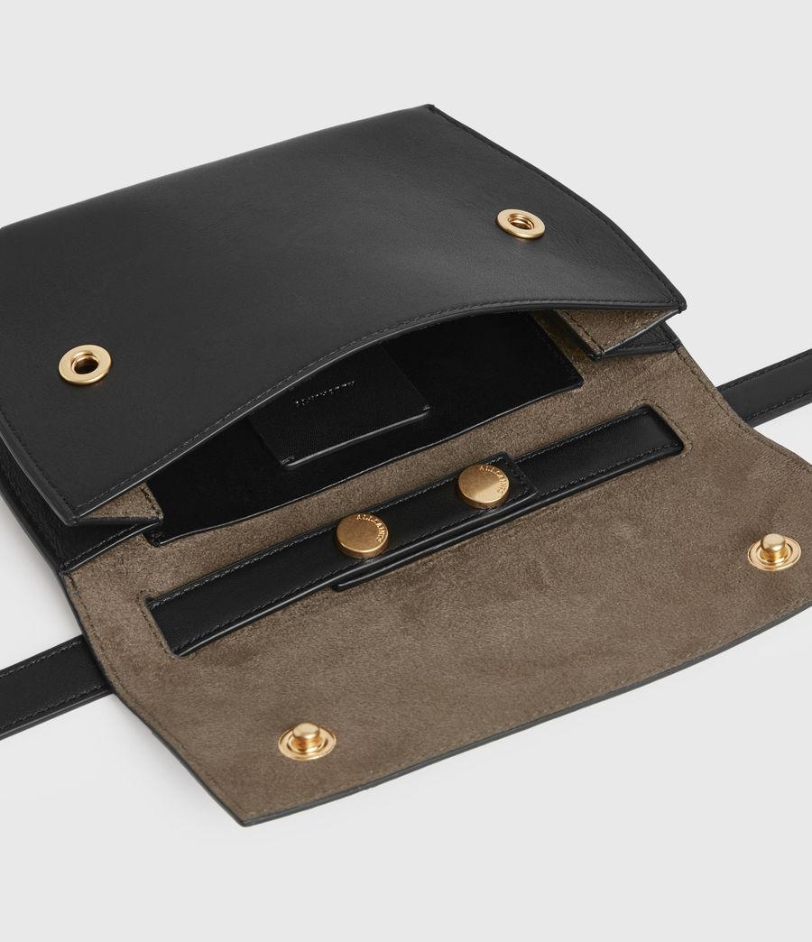 Womens Corbet Leather Crossbody Fanny Pack (black) - Image 7