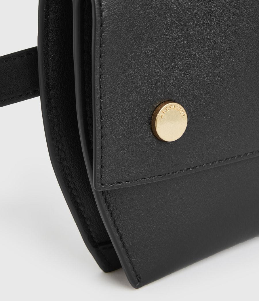 Womens Corbet Leather Crossbody Fanny Pack (black) - Image 8