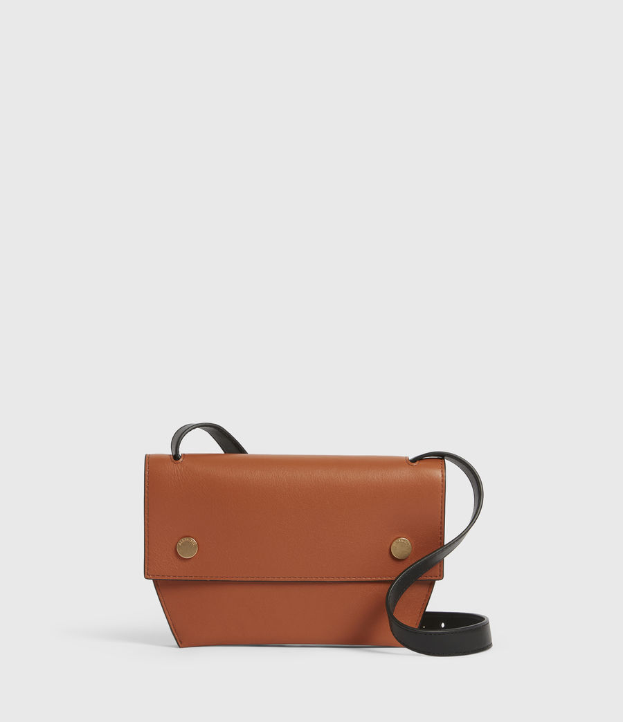 Women's Corbet Leather Crossbody Bumbag (rust_orange) - Image 1