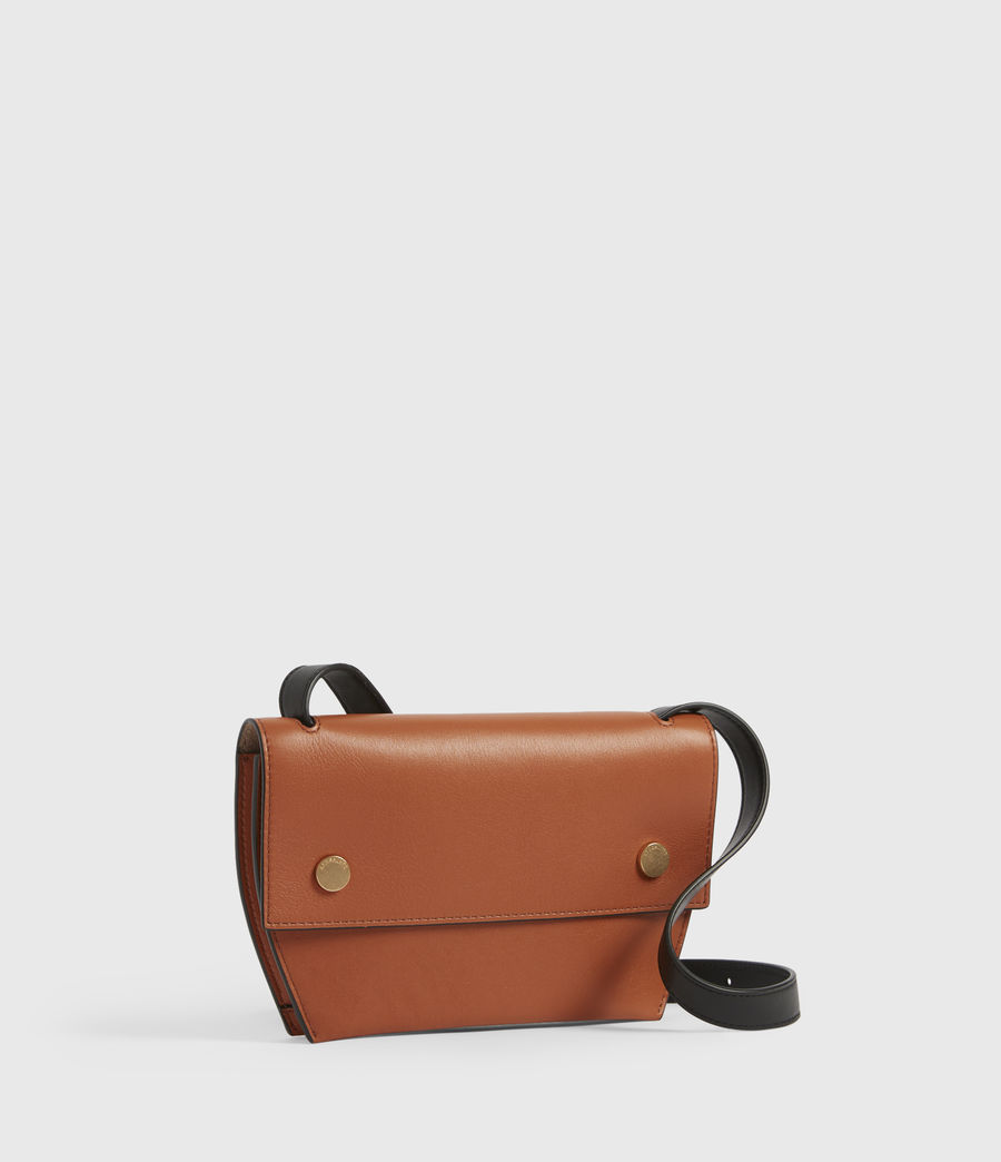 Women's Corbet Leather Crossbody Bumbag (rust_orange) - Image 3
