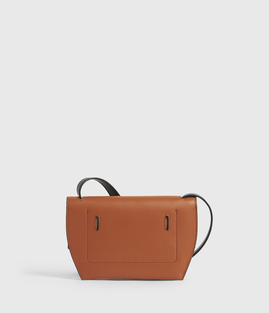Women's Corbet Leather Crossbody Bumbag (rust_orange) - Image 5