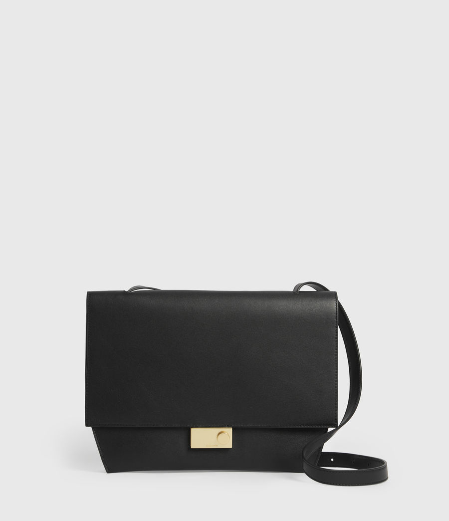 Womens Charterhouse Leather Shoulder Bag (black) - Image 1