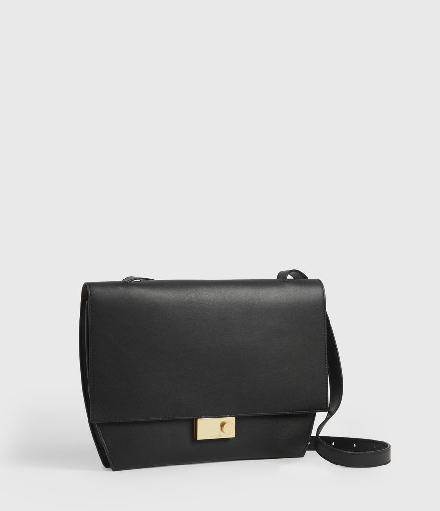 Womens Charterhouse Leather Shoulder Bag (black) - Image 4