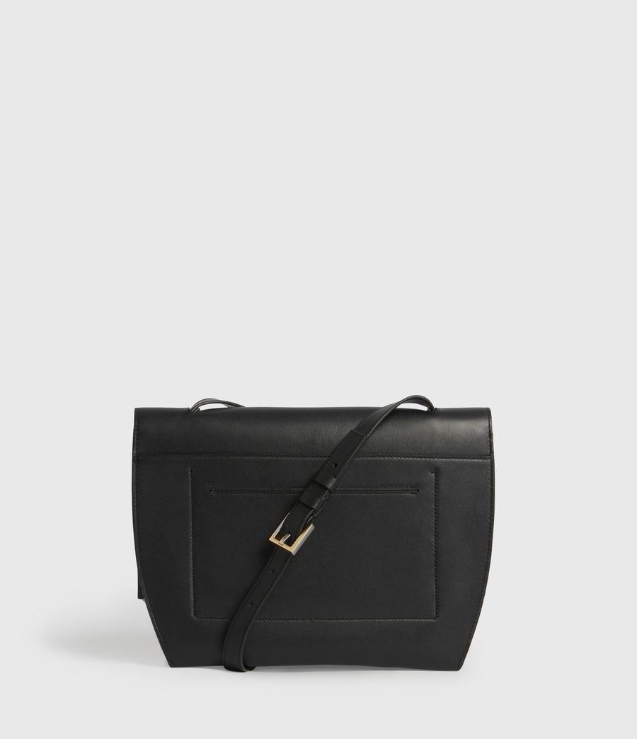 Womens Charterhouse Leather Shoulder Bag (black) - Image 6
