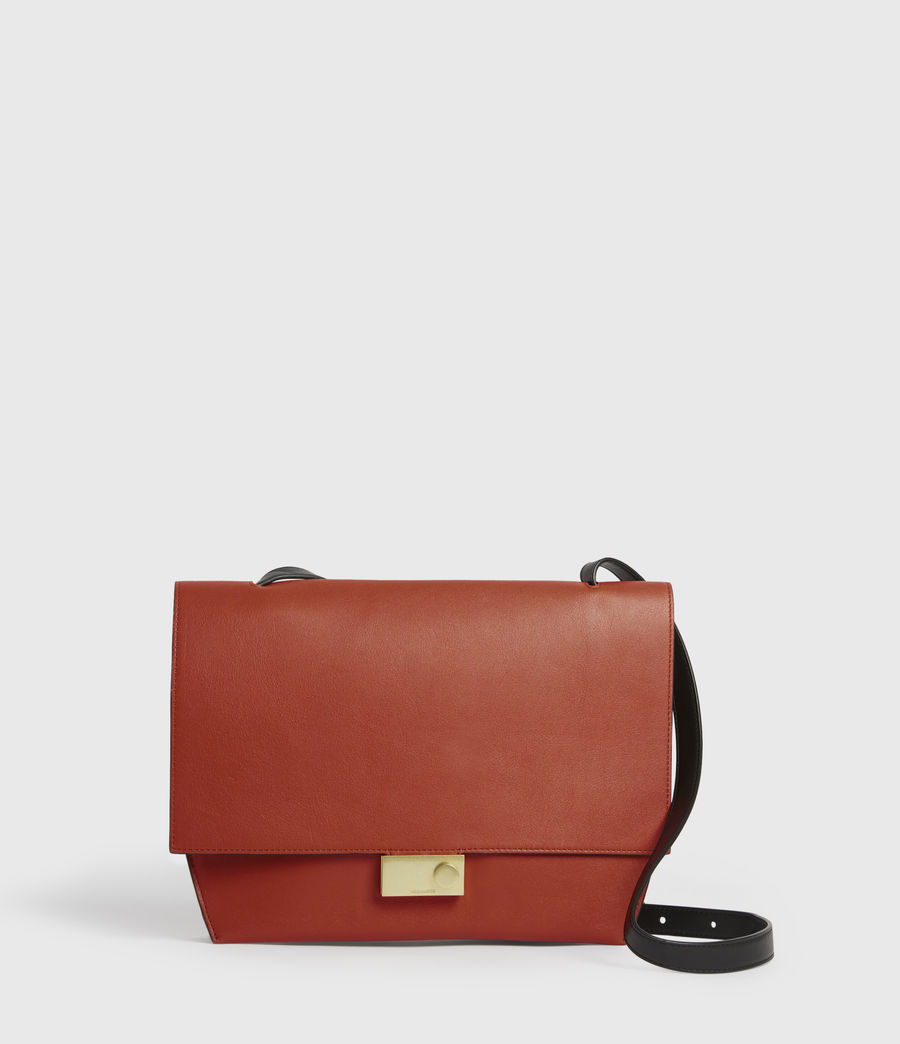 Women's Charterhouse Leather Shoulder Bag (riot_red) - Image 1
