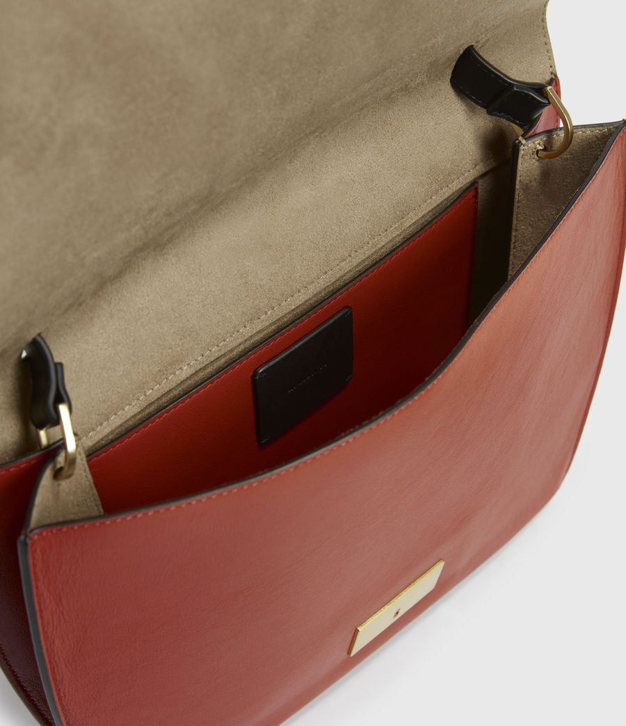 Women's Charterhouse Leather Shoulder Bag (riot_red) - Image 2