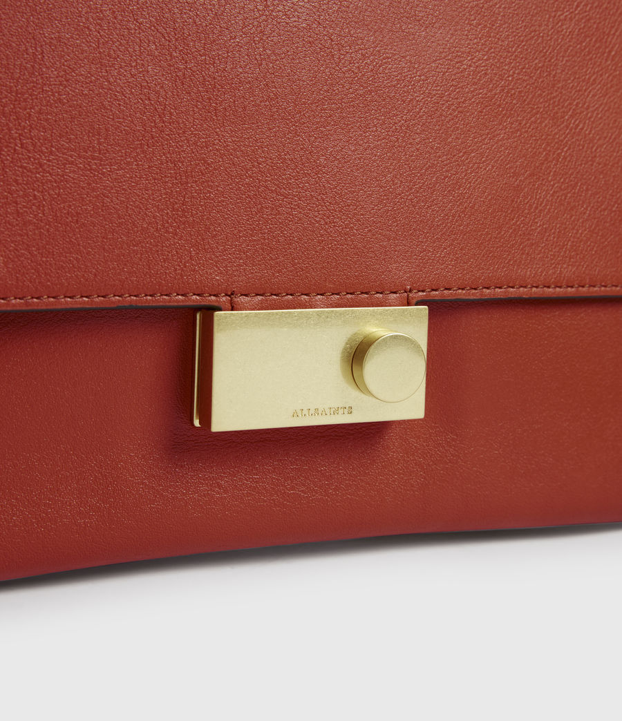 Women's Charterhouse Leather Shoulder Bag (riot_red) - Image 3
