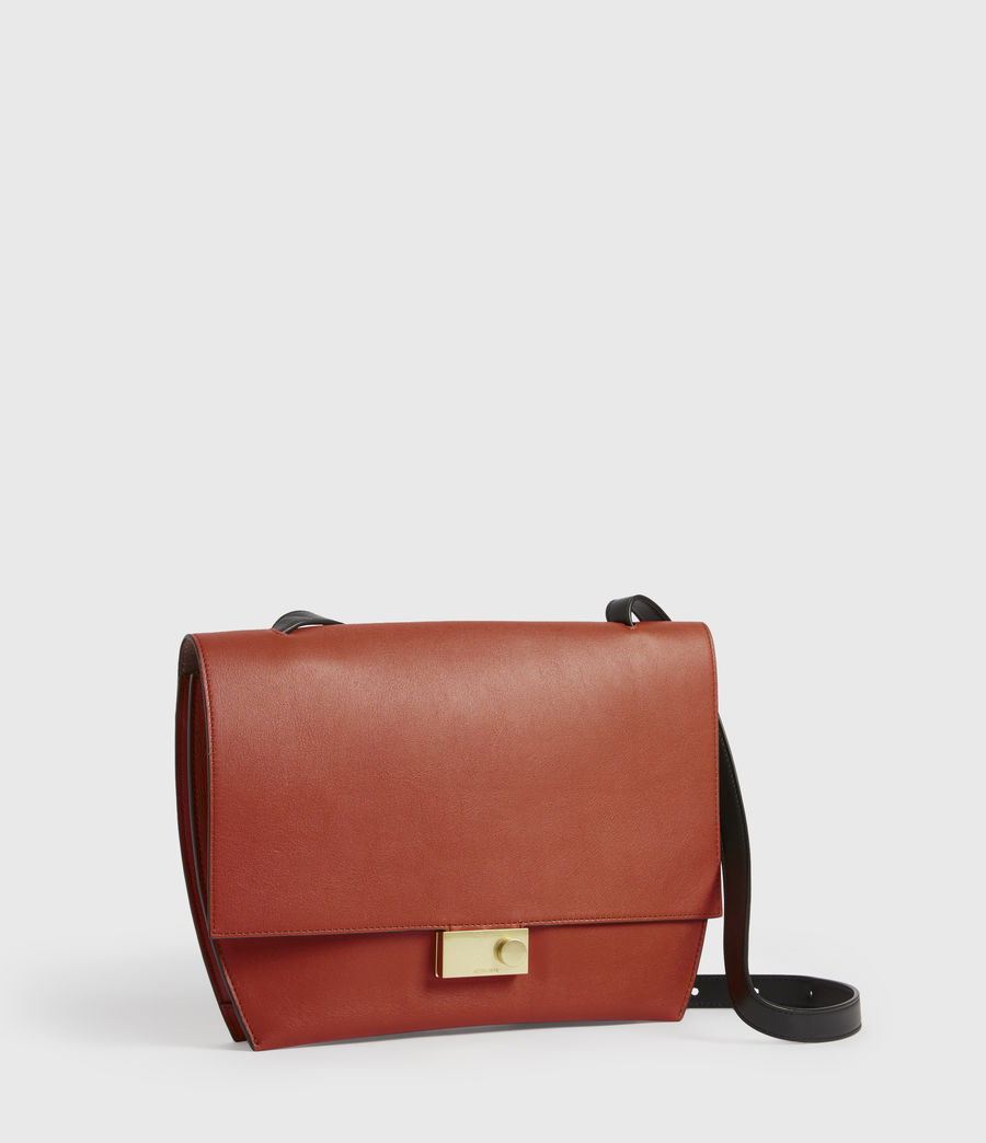 Women's Charterhouse Leather Shoulder Bag (riot_red) - Image 4