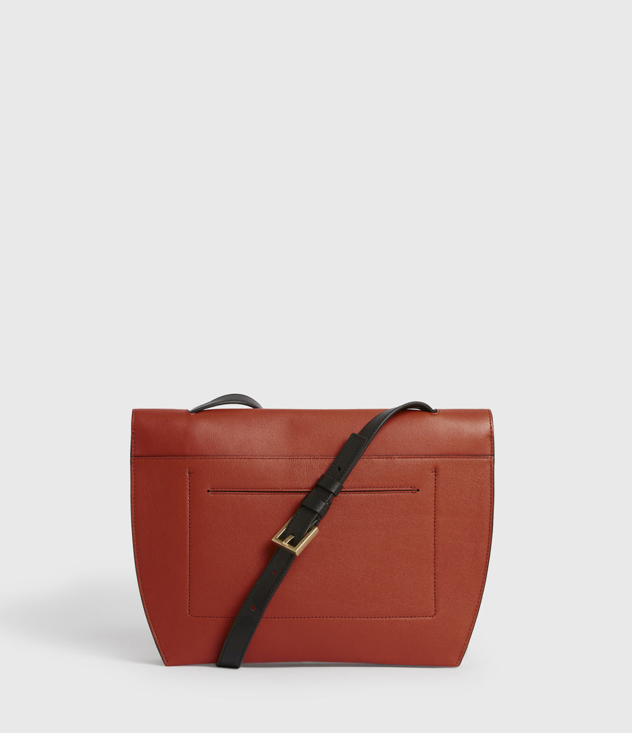 Womens Charterhouse Leather Shoulder Bag (riot_red) - Image 5