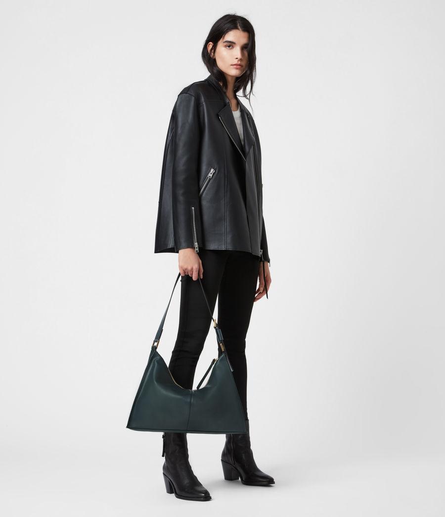 Womens Edbury Leather Shoulder Bag (dark_green) - Image 1