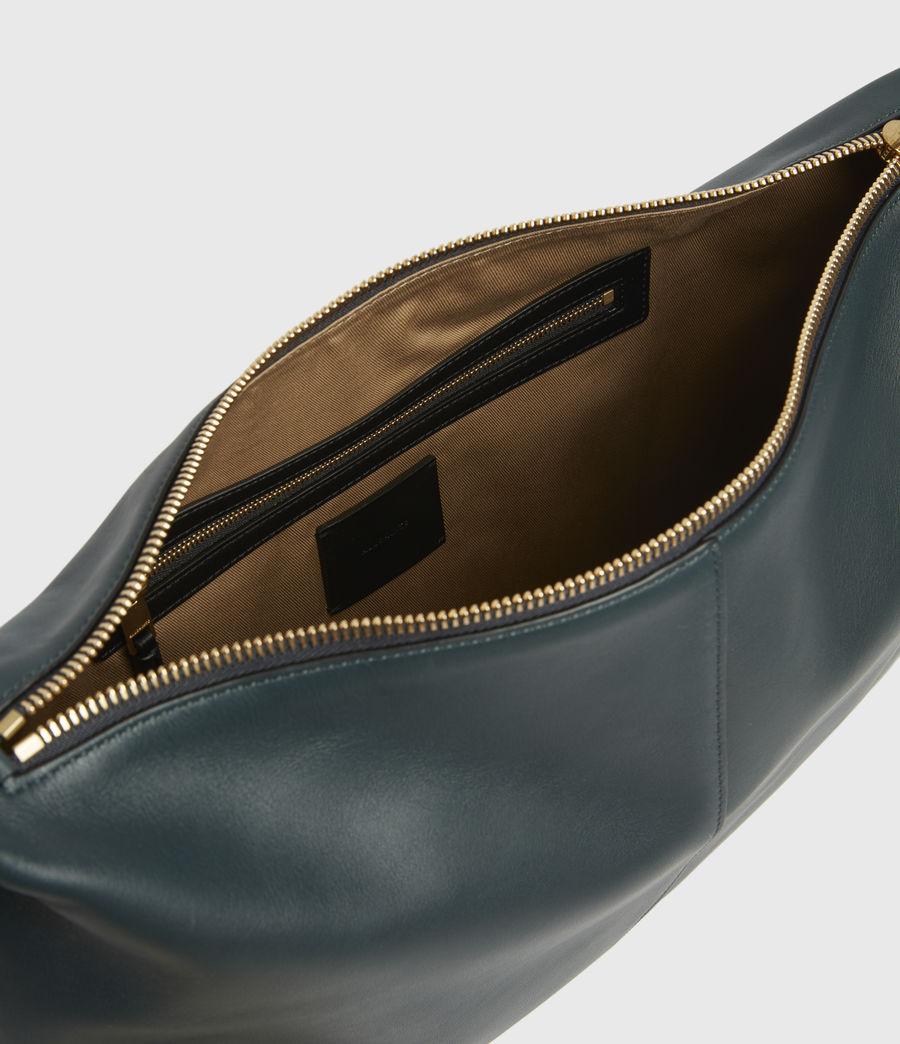 Womens Edbury Leather Shoulder Bag (dark_green) - Image 3