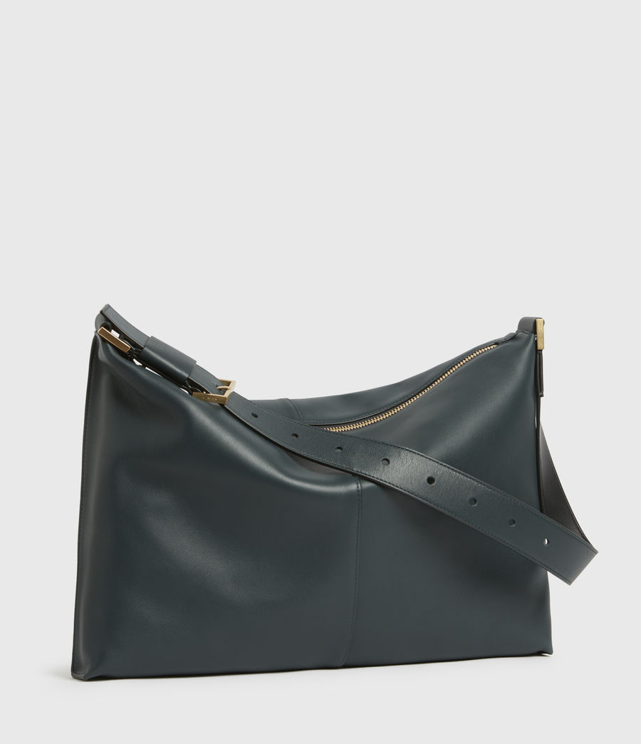 Womens Edbury Leather Shoulder Bag (dark_green) - Image 4
