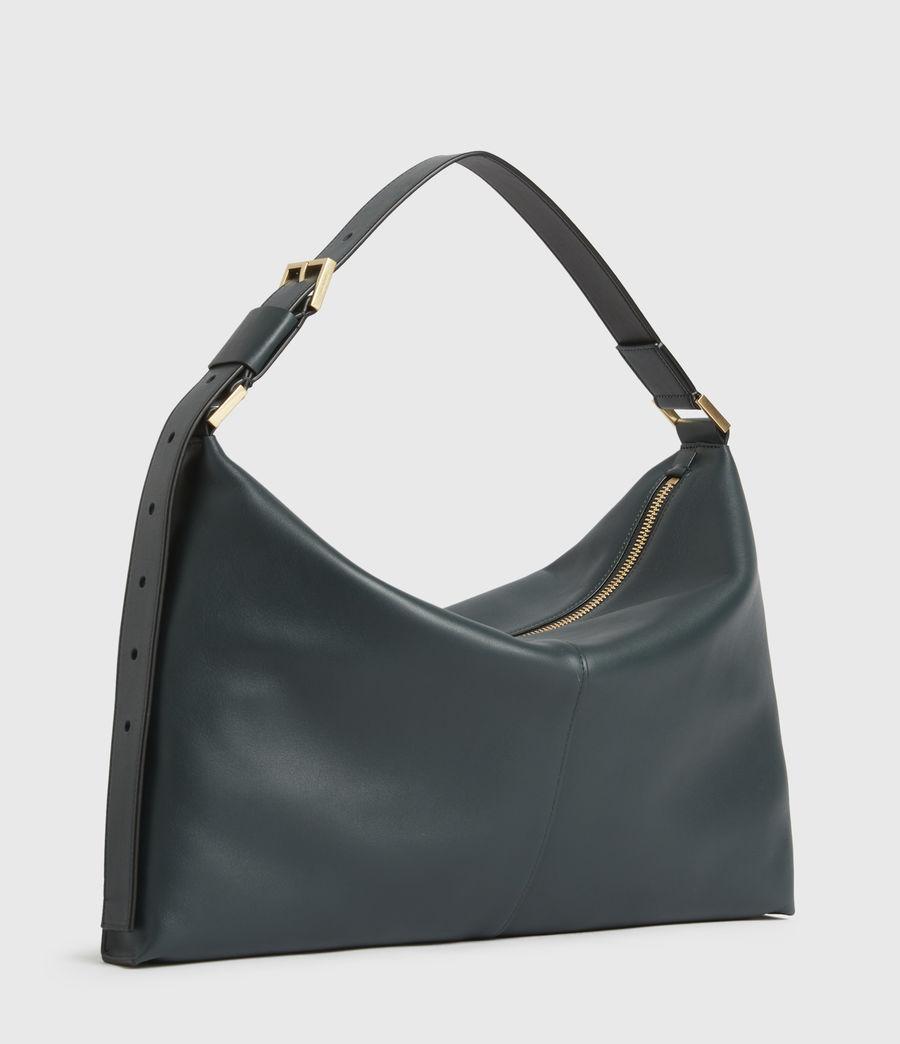 Womens Edbury Leather Shoulder Bag (dark_green) - Image 5