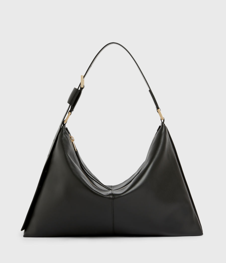 Womens Edbury Leather Shoulder Bag (black) - Image 1