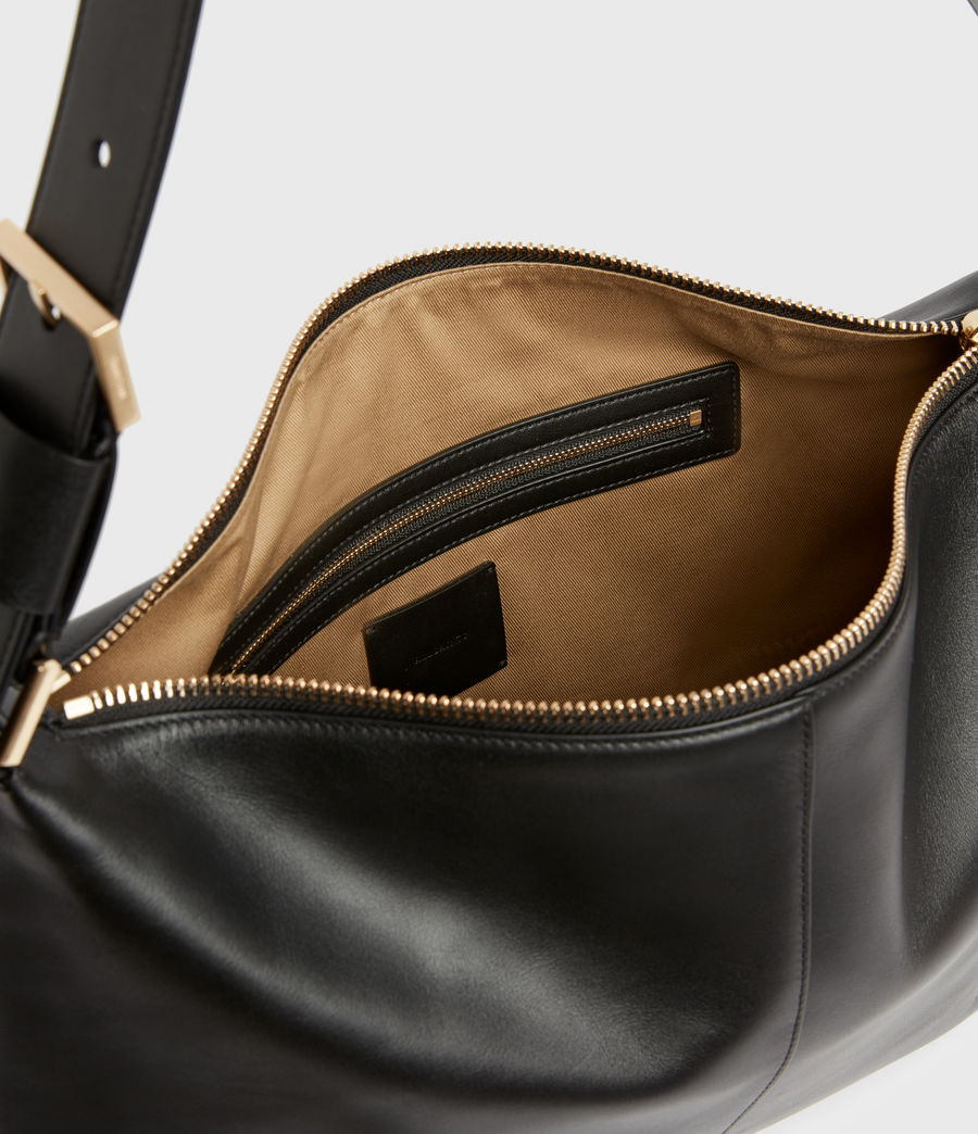 Women's Edbury Leather Shoulder Bag (black) - Image 3
