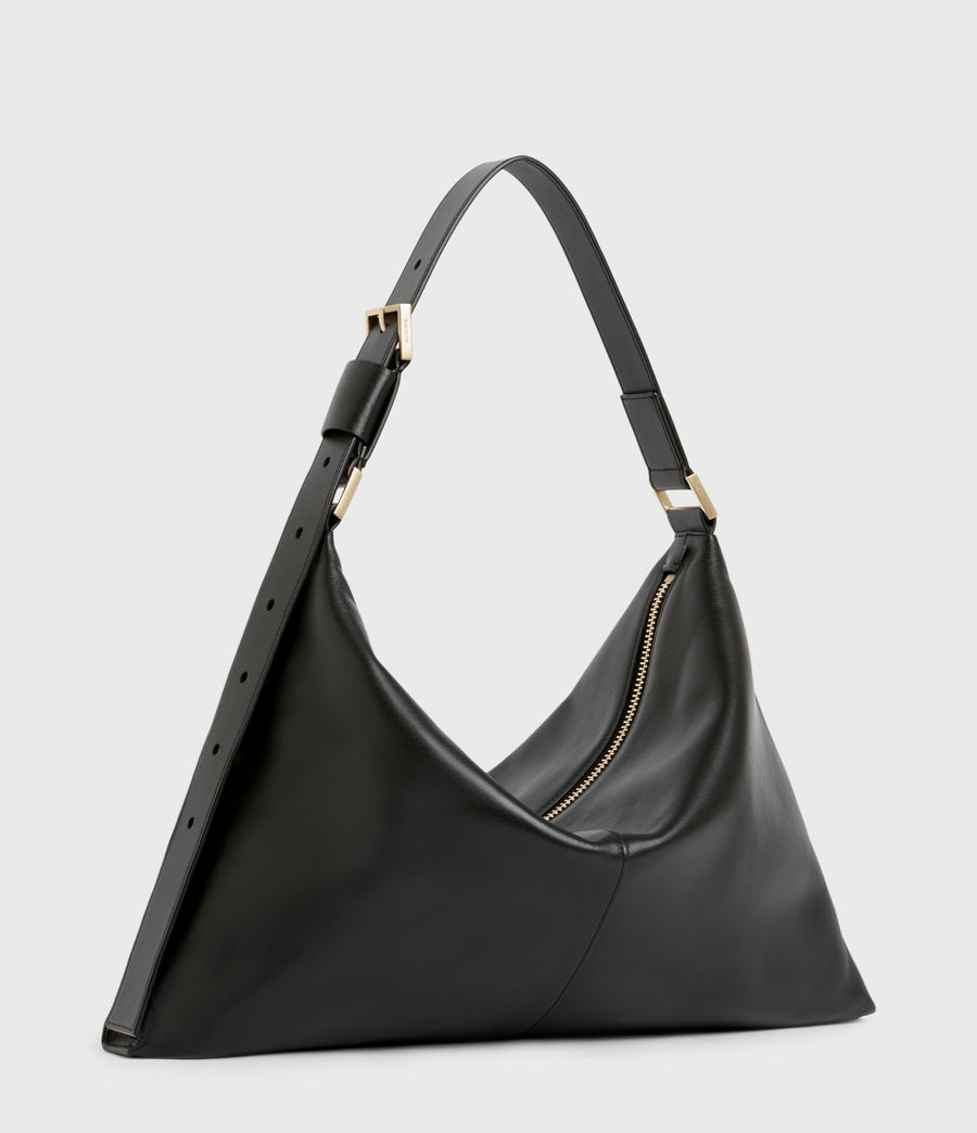 Womens Edbury Leather Shoulder Bag (black) - Image 4